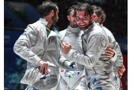 ITALY'S NAVARRIA, KOREA'S KIM WIN GOLD IN EPEE AND SABRE AT WUXI FENCING WORLD CHAMPIONSHIPS